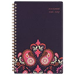 AT-A-GLANCE Academic Year Weekly / Monthly Planner / Appointment Book, July 2016 - June 2017, Sugar Plum, 4 7/8\