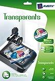 AVERY - 2503 - 15 transparents. A4. Impression jet d'encre