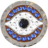 Evil Eye Ball Marker Accented By Genuine Swarovski Crystals with Magnetic Hat Clip
