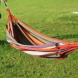 LANDUSA Canvas Outdoor Portable Camping Garden Beach Travel Hammock-red