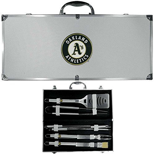 mlb-oakland-athletics-stainless-steel-bbq-set-with-bag