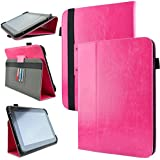 """Kozmicc Universal Tablet Case Cover 8.9"""" 9.7"""" 10"""" 10.1"""" Inch (Pink) [Adjustable Stand Folio] for Android, D2 Pad 912 927, Apple iPad, asus transformer pad, galaxy tab, nokia, sony, google nexus and other tablets"""