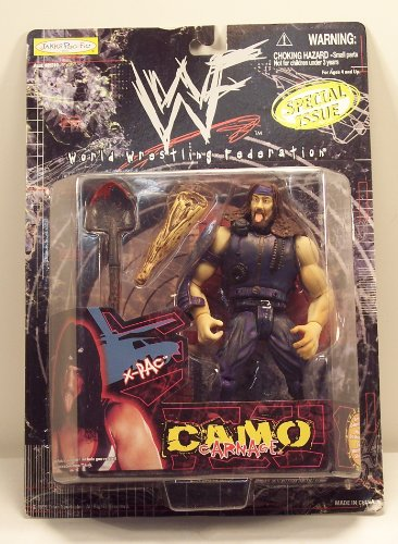 WWF Special Issue Camo Carnage X-Pac Action Figure - 1