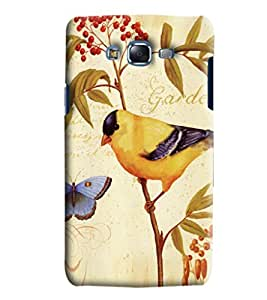 Blue Throat Garden With Bird And Butterfly Printed Designer Back Cover/Case For Samsung Galaxy J7