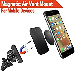 Magnetic Air Vent Car Mount, Costech 360 Degree Rotation Mobile Phone GPS Holder Powerful Surface Grip Stand for Iphone,Samsung Galaxy ,and Other Smart Phones