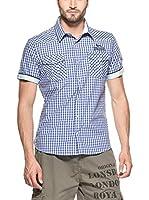 Lonsdale Camisa Hombre Berny (Azul Oscuro)