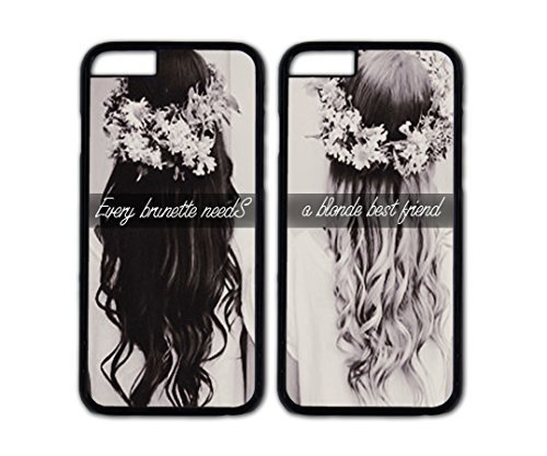 Best Friends Forever couple case,Every brunette needs a blonde best friend Danielcase-TPU couple case for iPhone 5 5s(5 5s-) personalized case cover-5 colors available