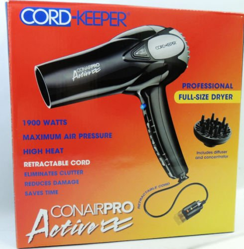 Conair Cord Keeper With Diffuser AmpNozzle Hair Dryer