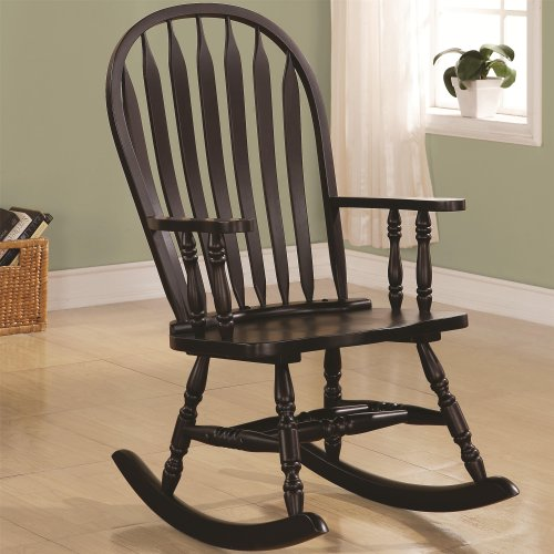 Rocker Rocking Chair In Cappuccino Finish front-1065630