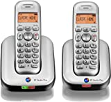 BT Studio Plus 4100 Twin DECT Cordless Telephone - Silver/Dark Grey