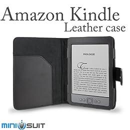 Amazon Kindle 【キンドル】  専用 レザーケース スタンド型 ブラック