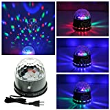 TSSS® Black LED RGB Crystal Rotating Magic Ball Sunflower Colorful Lighting