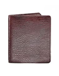RL W 12 - Br Brown Leather Top Grain Double Sided Wallet For Men