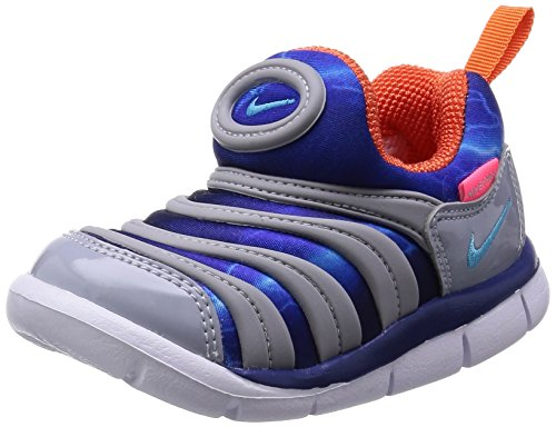 [Nike] NIKE DYNAMO FREE (TD) 343938-003 343938-003 (Wolf grey / Clearwater / deep Royal blue / orange electro / 10 C)