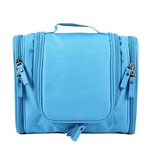 Travel Kit Organizer Bathroom Storage Cosmetic Bag Toiletry Waterproof Blue Luggage Bags Bags