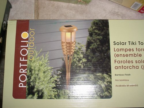 Portfolio Led Solar Tiki Torch Light Set Of 2