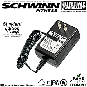 Schwinn 122, 126, 130 & 131 Upright Exercise Bike Power Supply / AC Adaptor