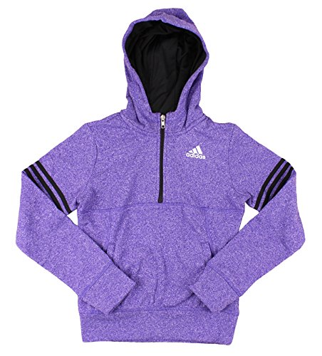 Adidas Youth Big Girls Fleece Quarter Zip Pullover Hoodie (X-Large (16))