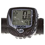 MUCH Wireless Waterproof LCD Bike Computer Odometer Speedometer with Multi Function and LCD Backlight MUCH