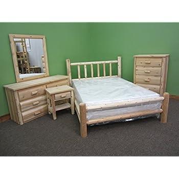 Midwest Log Furniture - Premium Log Bed - Queen