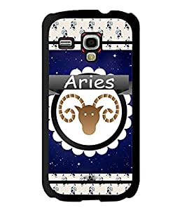 Fuson 2D Printed Sunsign Aries Designer back case cover for Samsung Galaxy S3 Mini - D4430