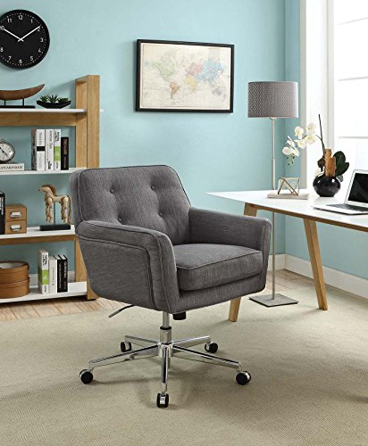 "Serta ""Ashland"" Winter River Gray Home Office Chair 0"