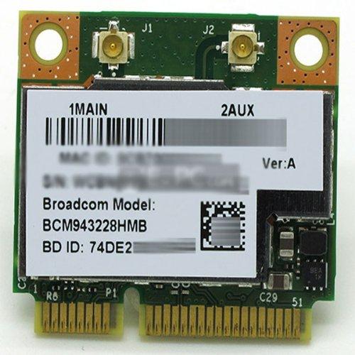 Broadcom Bcm943228Hmb Wifi Wireless N Bt Bluetooth 4.0 Half Mini Pci-E Card