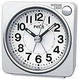 SEIKO CLOCK(セイコークロック) PYXISライト付き目覚まし時計(白) NR437w