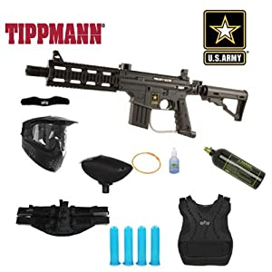 Tippmann US Army Project Salvo Paintball Marker Gun Chest Protector Mega Package by Tippmann