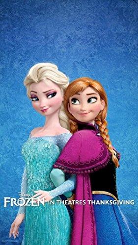 "ELSA & and ANNA FROZEN the Movie Trailer Poster Theater 3D cartoon Pillow Case Zippered custom 20"" X 30"" Brand New - 1"