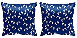 Panda Creation Colorful Designer Pillow Cover / Cushion Cover (12 x 12)