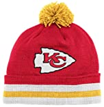 Kansas City Chiefs Mitchell & Ness Throwback Vintage Knit Hat with Pom by Mitchell & Ness