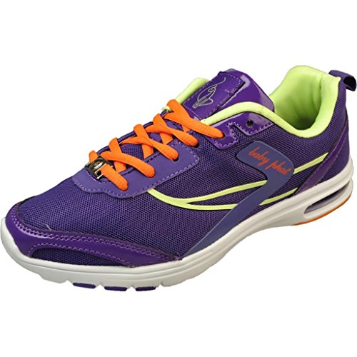 6. Baby Phat Women's Newt Purple/Lime Fashion Sneakers