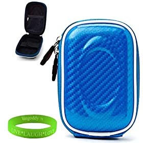 VanGoddy Mini Glove Sleeve Pouch Case for Bell Plus Howell Splash WP10 Waterproof Digital Cameras and Screen Protector Sky Blue