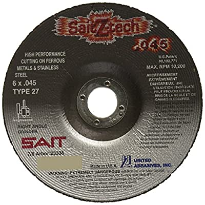 United Abrasives SAIT 23336 Type 27 6-Inch x .045-Inch by 7/8-Inch Z-Tech High Performance Cutting Wheel, 50-Pack