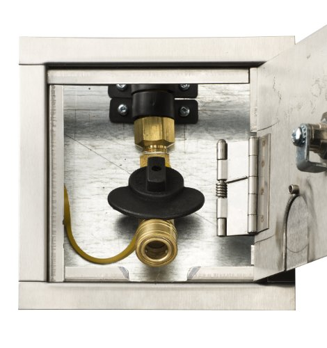 Gas Plug G0101-Dm-Ss-38 Deck Mount Gas Outlet Box With 1/2-Inch Inlet, 3/8-Inch Outlet And Galvanized Stainless Steel Enclosure