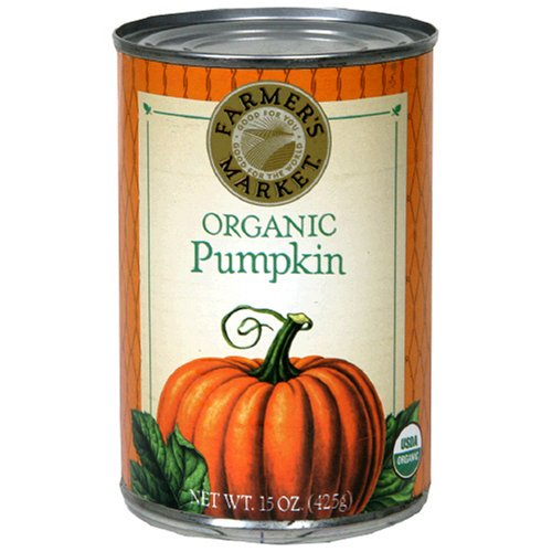Farmer's Market Foods Organic Canned Pumpkin, 15-Ounce Cans (Pack of 12)