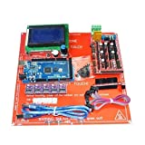 HITSAN 3D Printer Kit RAMPS 1.4+Arduino Mega 2560+DRV8825+12864LCD+PCB Heat Bed MK2B One Piece