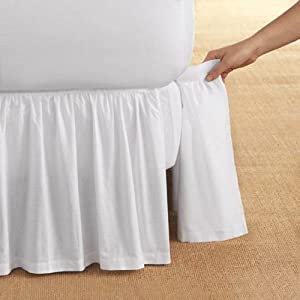 Detachable bedskirt detachable bedskirt love the look for Colchas para camas de 150 con canape