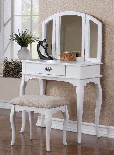 Queen Anne Vanity in White