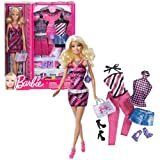 Mattel Year 2012 Barbie Pink Series 12 Inch Doll - BARBIE (BBX43) With 3 Sets Of Outfit, 3 Pair Of S