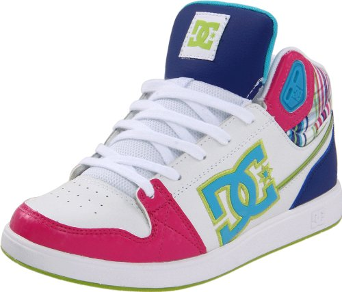 DC Women's University Mid White/Turquoise/Soft Lime Skate Shoes D0303211 5 UK, 38 EU, 7 US