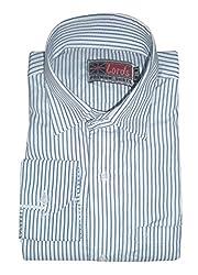 Lords Wear Men's Formal Shirt (LordsWear_Blue White_44)