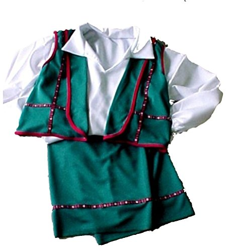 Bavarian Man 3pc Costume Set in Blue or Green