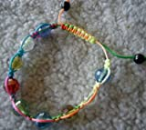 "Rainbow Shamballa Crystal Adjustable Unisex ""Zumba"" Like Bracelet"