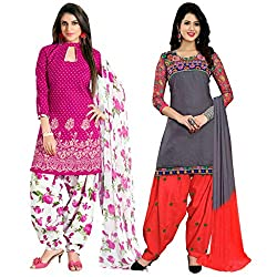 Ruaab Fashion Women Designer Dress Materials Combo(RF_AD_499)