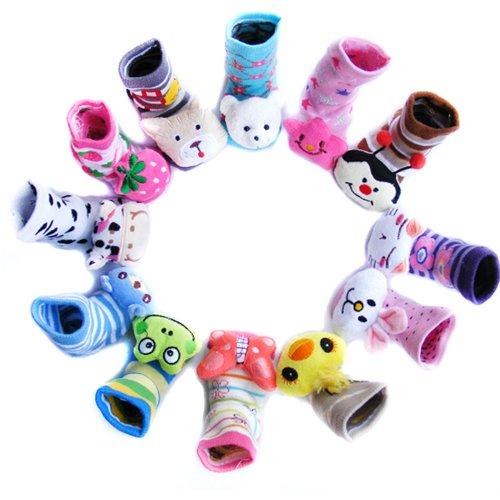 3 Pair Ecosco Baby Newborn Toddler Anti Slip Socks Slippers Shoes, (0-18Month,10Cm) (Girl) front-803880