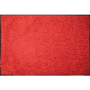 Mercury Flooring - Tapis Wash&Clean 60X80 - Couleur : Rouge