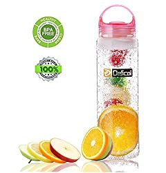 Delicol Infuser Water Bottle 27 Oz Leak Proof Bpa-free Tritan Fruit Sports Bottle(style 3)-make Your Own Fresh and Nutritive Fruit Water ...