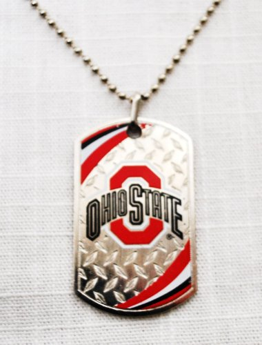 Ohio State Buckeyes Official NCAA Sport Tagz Dog Tag Necklace